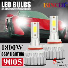 1800W CREE 9005/HB3 LED Headlight Kits Hi/Lo Power 6000K White 480000LM Bulb PO