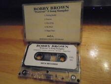 RARE PROMO Bobby Brown CASSETTE TAPE Forever sampler r&b NEW EDITION Rome 5 trax