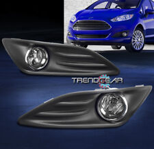 2014-2016 FORD FIESTA BUMPER DRIVING FOG LIGHT LAMP CHROME W/BULB+COVER+HARNESS