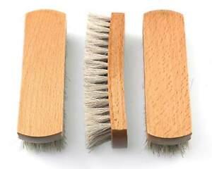 Free Engraving - 3 pack Dense Real Horse Hair Premium Shoe Polishing Brush UK