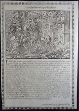 Gravures sur bois Woodcut print Jean Cousin Figures de la Sainte BIBLE Folio 135