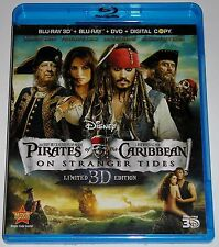 Pirates of the Caribbean: On Stranger Tides (Blu-ray/DVD, 2011, Blu-ray 3D) USED