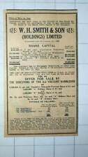 1949 Wh Smith And Son Holdings Sale Of Shares 3rd Viscount Hambleden
