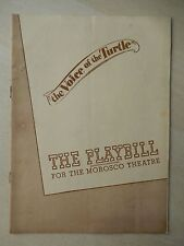 June 10th, 1946 - Morosco Theatre Playbill - The Voice Of The Turtle - Nugent