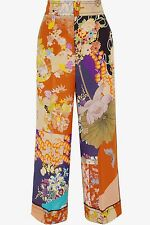 Gucci Cropped Printed Silk Crepe de Chine Pants NWT Size 42