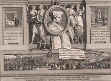 1795 Rare gravure Georges d'Amboise cardinal ministre Louis XII