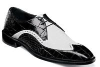 Stacy Adams Trazino Men's Shoes Oxford Black White 25271-111