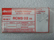 100 resistori RCMS02 RS58Y 1% 1/8W 50ppm 12k7 12.7k ohm Sfernice resistore