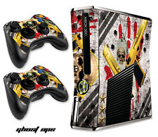 Skin Decal Wrap for Slim Model Black Xbox 360 S Warfare Cod Console - GHOSTS OPS