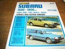 Subaru 1600-1800cc-1979/1988/4 and 2 wheel drive Service Repair Manual