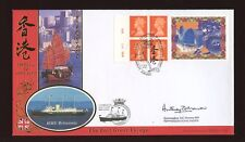 1997 Hong Kong Label Parliament SIGNED Commodre+Carried