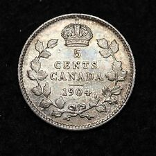 1904 Canada Five Cent CHOICE AU FREE SHIPPING