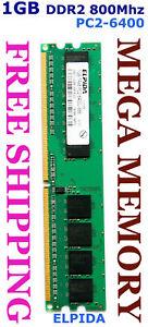 ELPIDA 1GB DDR2 PC2-6400 800MHz Desktop Memory @ Syd