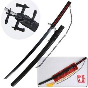 High Quality Ichigo Kurosaki Tensa Zangetsu Sword Carbon Steel Katana Japanese