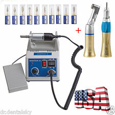 Dental Lab Motor Handpiece 35K Rpm Electric Marathon+ polishing drills *10 IE-J
