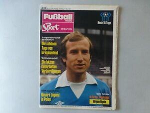 Zeitschrift Fußball Woche / Sport Megaphon Nr. 21 von 1978