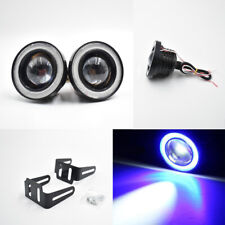 "2x 2.5"" Blue COB LED Fog Light Projector Car Angel Eye Halo Ring DRL ATV SUV"