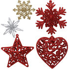 3D Glitter Snowflake Star Christmas Xmas Tree Ornaments Hanging Decoration Decor