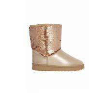 Neu Damen Winter Stiefel Stiefeletten Boots gefüttert mit Pailletten Gr 37 40 41