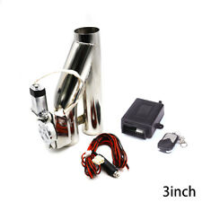 3'' inch 76mm Exhaust Control E-Cut Out Valve Electric Y Pipe With Remote Kit
