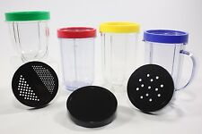 USED Replacement Cups/Lids for use with Magic Bullet (MB1001B)