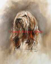 SALE Bearded Collie Signed Dog Print by Susan Harper Unmounted