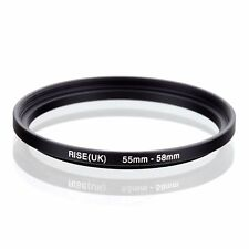 RISE(UK) 55MM-58MM 55-58 mm 55 TO 58 StEP UP RING ADAPTER