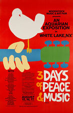 WOODSTOCK FESTIVAL - 1969 Original Concert Poster Quality Print