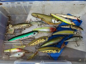 Old Fishing Lure Lot Rapala Heddon Unknown Bass Baits Crankbait Unmarked