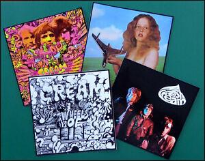 CREAM / BLIND FAITH, ERIC CLAPTON, Set of 4 Large Glossy Stickers