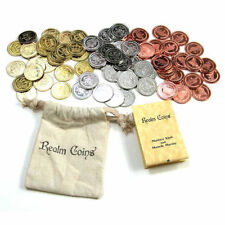 75 Realm Coins Fantasy Coins Game Real Metal Tokens Board Games Cosplay RPG LARP