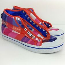 Blue Womens Fast Shipping Adidas Honey Mid W Retro Denim Shoes
