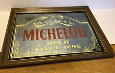 FRAMED ANHEUSER BUSCH MICHELOB BEER MIRROR SIGN AD, SINCE 1896 - ALE PUB