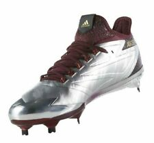reputable site a3e3a 6e9d1 Adidas Adizero Afterburner 4 Maroon Silver Baseball Cleats Mens Size 12.5  BY3679