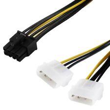 13cm PCI Stromkabel Strom Kabel für Computer PC 1x 8 Pole auf 2x 4 Pins interne