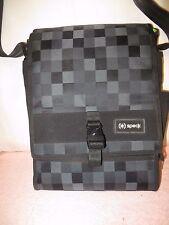 Speck Grayscale Pixel Laptop/Notebook Shoulder Bag Case / Satchel w/Green Lining