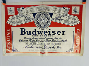 "Vintage Budweiser Beer Label Poster Print Ad 14"" X 20"" Advertisement Promotjonal"