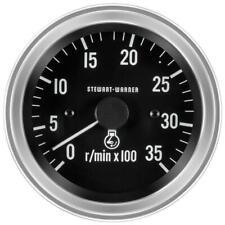 Stewart Warner Deluxe Series Tachometer Diesel 0 3500 3 38 Dia In Dash 82636