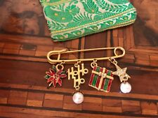Vintage Christmas Brooch Spilla  Di Natale