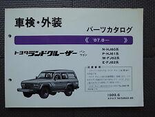 JDM TOYOTA LAND CRUISER 60 series HJ60 HJ61 FJ62 Original Genuine Parts Catalog
