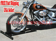 MOTORCYCLE STAND WHEEL CHOCK PIT TRAILER STOP HONDA YAMAHA CRUISER SPORTBIKE