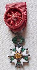 Médaille MINIATURE REDUCTION Croix Officier LÉGION D'HONNEUR ancienne argent
