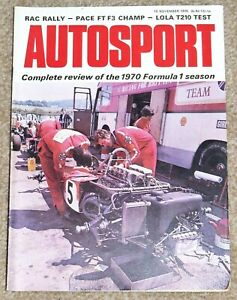 Autosport 19/11/70 - RAC RALLY - 1970 F1 REVIEW -ESCORT MEXICO & LOLA T210 TESTS