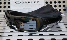 New Oakley GASCAN 03-473 Sunglasses Matte Black w/Gray Lenses