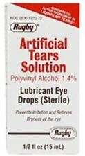 Rugby Artificial Tears Solution Sterile Lubricant Eye Drops 15 ml