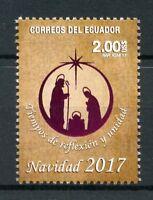 Ecuador 2017 MNH Christmas Nativity 1v Set Stamps