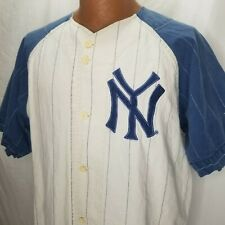 Vintage NY Yankees #7 Baseball Jersey M Pinstripe Cooperstown Collection Mantle