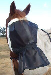 Ecotak DELUX fleece lined fly mask with nose skirt Ecotak