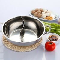 30/32cm 2 Lattice Stainles Steel Hot Pot Shabu Cooker Cookware Chinese Fond X0T0