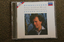 Mendelssohn: Songs Without Words - Andras Schiff (CD, 1988, Decca)